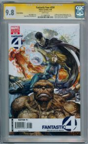 Fantastic Four #554 Variant CGC 9.8 Signature Series Signed Stan Lee Thing Marvel comic book
